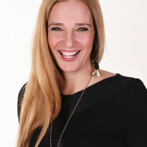 Berliner Moderatorin Carmen Franke, blond